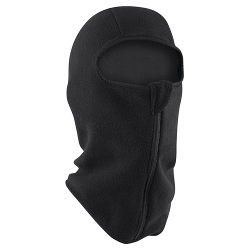 Balaclava Microfleece w- Zipper Black