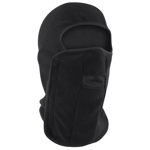 Balaclava Fleece Hook and Loop Closure Black