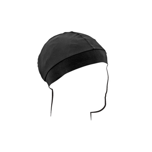 Skull Cap With Comfort Band - Black