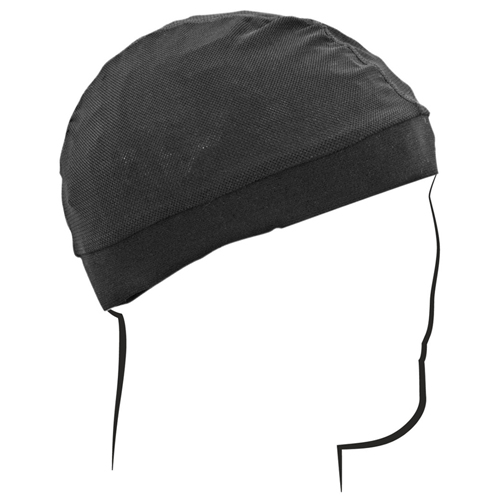 Skull Cap Mesh With Comfort Band - Black