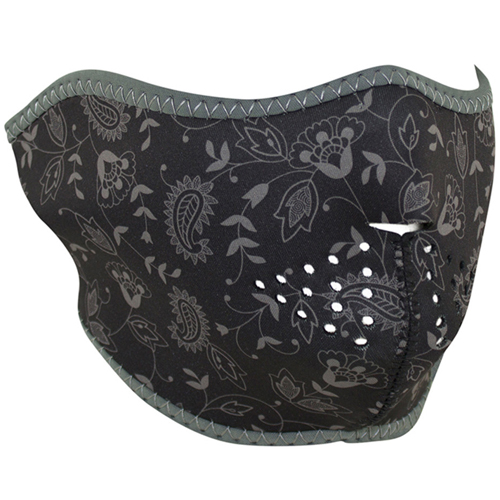Neoprene Half Mask Dark Paisley