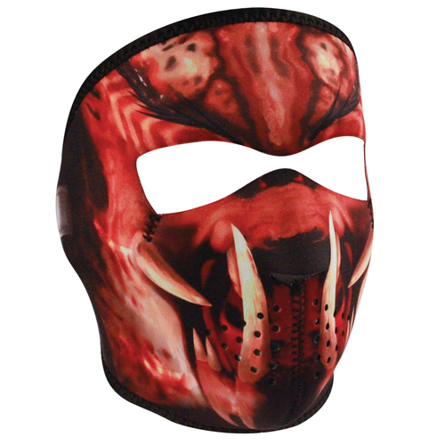Neoprene Slayer Masked Reverses to Unmasked Full Mask
