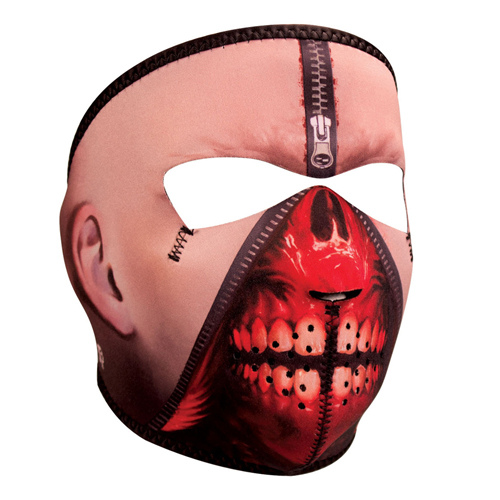 Neoprene Zipper Face Full Mask