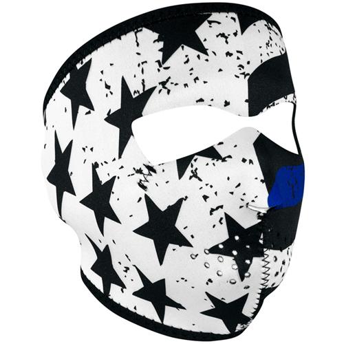 Blue Line Full Face Mask