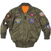 Alpha Kids MA-1 Patches Jacket