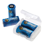 Lithium CR123A Batteries with Link Case