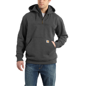 Rain Defender Hooded Zip Mock Sweatshirt
