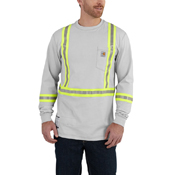 Carhartt Flame-Resistant Striped Force Cotton Long-Sleeve T-Shirt