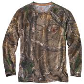 Carhartt Force Cotton Delmont Camo Long-Sleeve T-Shirt