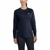 Carhartt Womens Flame-Resistant Force Cotton Long-Sleeve Crewneck T-Shirt