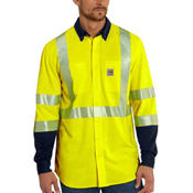 Carhartt FR High Vis Force Hybrid Shirt