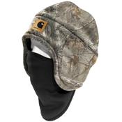 Camo Fleece Hat 2-in-1 Headwear
