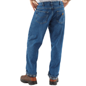 Relaxed Fit Straight Leg/Flannel Jeans