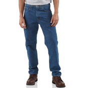 Straight/Traditional-Fit Tapered Leg Jeans