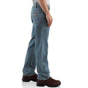 Relaxed-Fit Straight-Leg Jeans