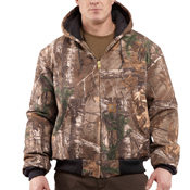 Carhartt Quilted-Flannel Lined Camo Active Jacket