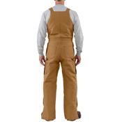 Duck Zip to Waist Quilt-Lined Bib Overalls