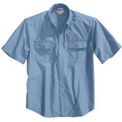 Short-Sleeve Chambray Shirt