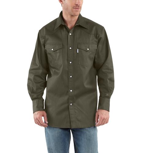 Carhartt Snap-Front Twill Work Shirt