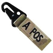 Blood Type Metal Key Fob - A+