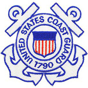 Patch-Uscg Auxiliary Wht