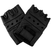 Leather Fingerless Biker Gloves