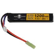 7.4V 1200mAh 25C LiPo Stick Airsoft Battery