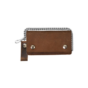 Bi-Fold Distressed Brown Leather Wallet