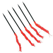 Throwing Spikes 5 Pcs Set With Red Tassels