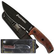 U.S. Marines Black PTFE Coated By MTech USA Fixed Blade Knife