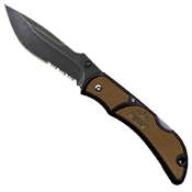 Outdoor Edge Chasm 3.3 Inch Serrated Knife - Brown