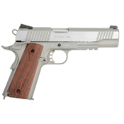 1911 Airsoft Pistol - Silver with Wood Grips