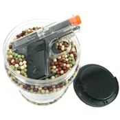 Ultrasonic .12 g Airsoft BBs with Colt .25 Pistol