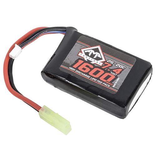 1600mAh 7.4V LiPO 20C PEQ Battery