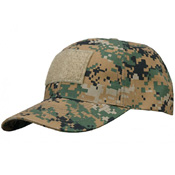 6 Panel Cap With Loop - Cottonpoly Ripstop