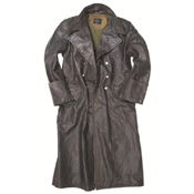 German Leather Officer Overcoat