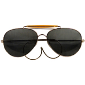 Aviator Air Force Style Sunglasses W Printed Case & Box
