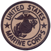 Marine Corps Patch With 3 Inch Hook And Loop