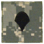 Official U.S. Made Embroidered Rank Insignia Spec-4