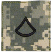 Official U.S. Made Embroidered Rank Private 1St Class Insignia