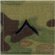 Official U.S. Made Embroidered Rank Insignia - Private