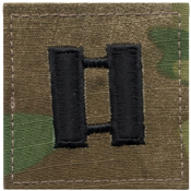 U.S. Made Embroidered Rank Insignia - Captain Insignia
