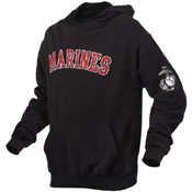 Mens Marines Military Embroidered Pullover Hoodies
