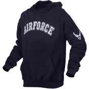 Mens Air Force Military Embroidered Pullover Hoodies