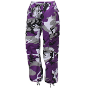 Womens Paratrooper Colored Camo Fatigues Pant