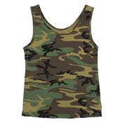 Womens Camo Stretch Tank Top