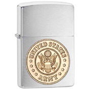 Zippo Military Army Crest Lighters