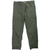 Ultra Force Olive Drab Vintage Flat Front Cargo Fatigue Pants