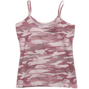 Womens Baby Pink Camo Booty Camp Tank Top