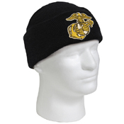 Embroidered Military Globe & Anchor Watch Cap